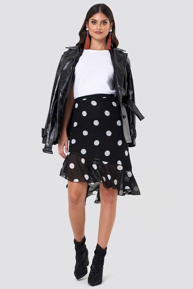 Asymmetric Ruffle Chiffon Skirt NA-KD.COM