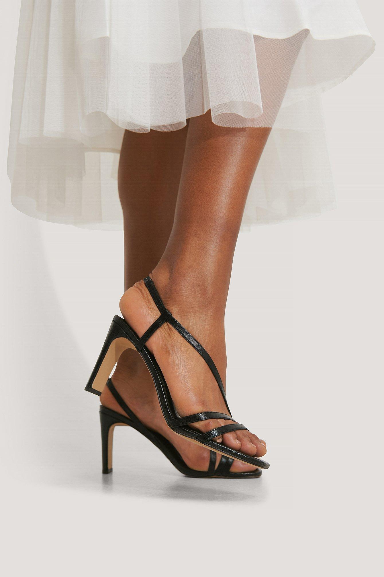 na-kd shoes -  Sandale Mit Hohem Absatz - Black