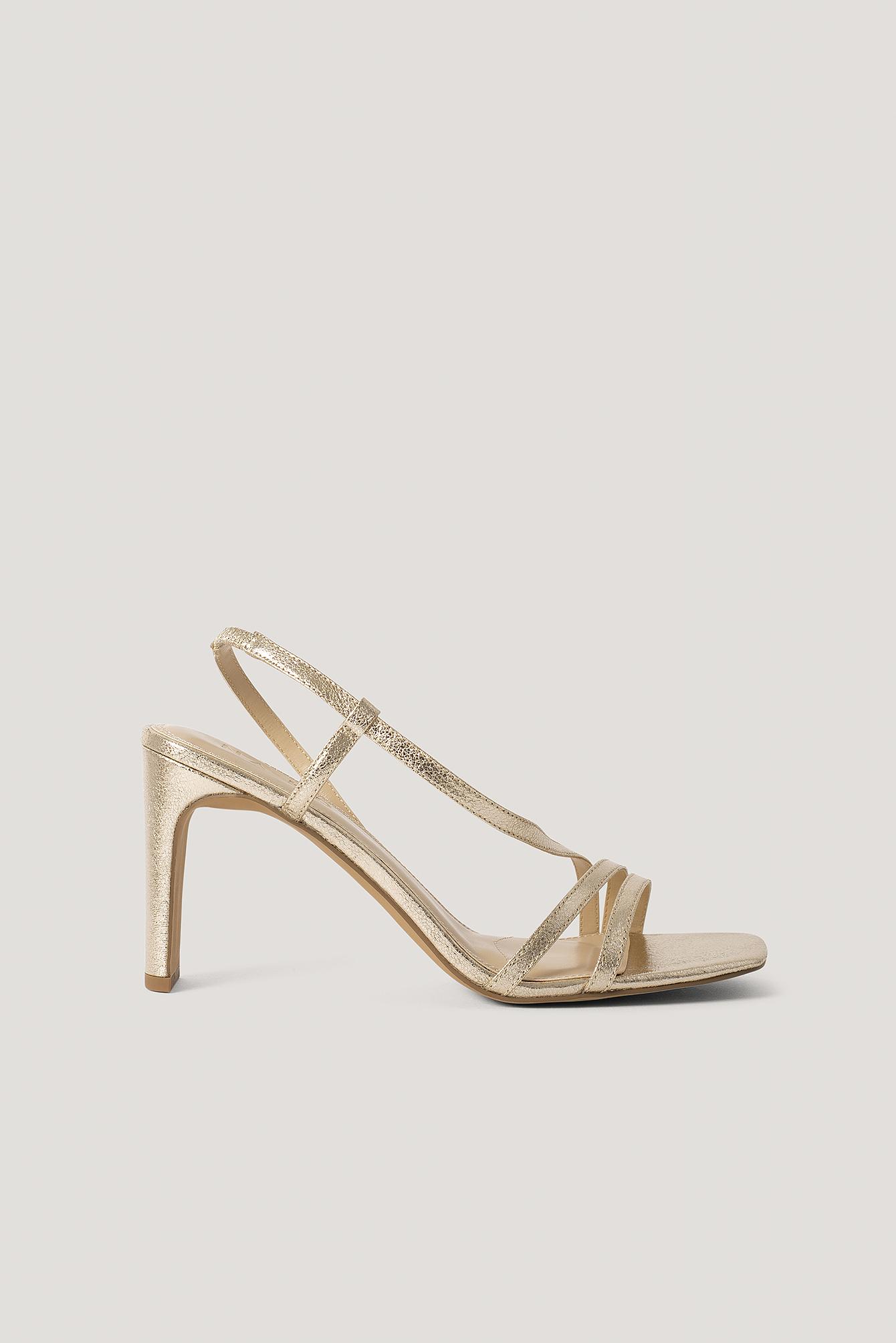 NA-KD Shoes Sandale Mit Hohem Absatz - Gold   Schuhe > Sandalen & Zehentrenner > Sandalen   NA-KD Shoes