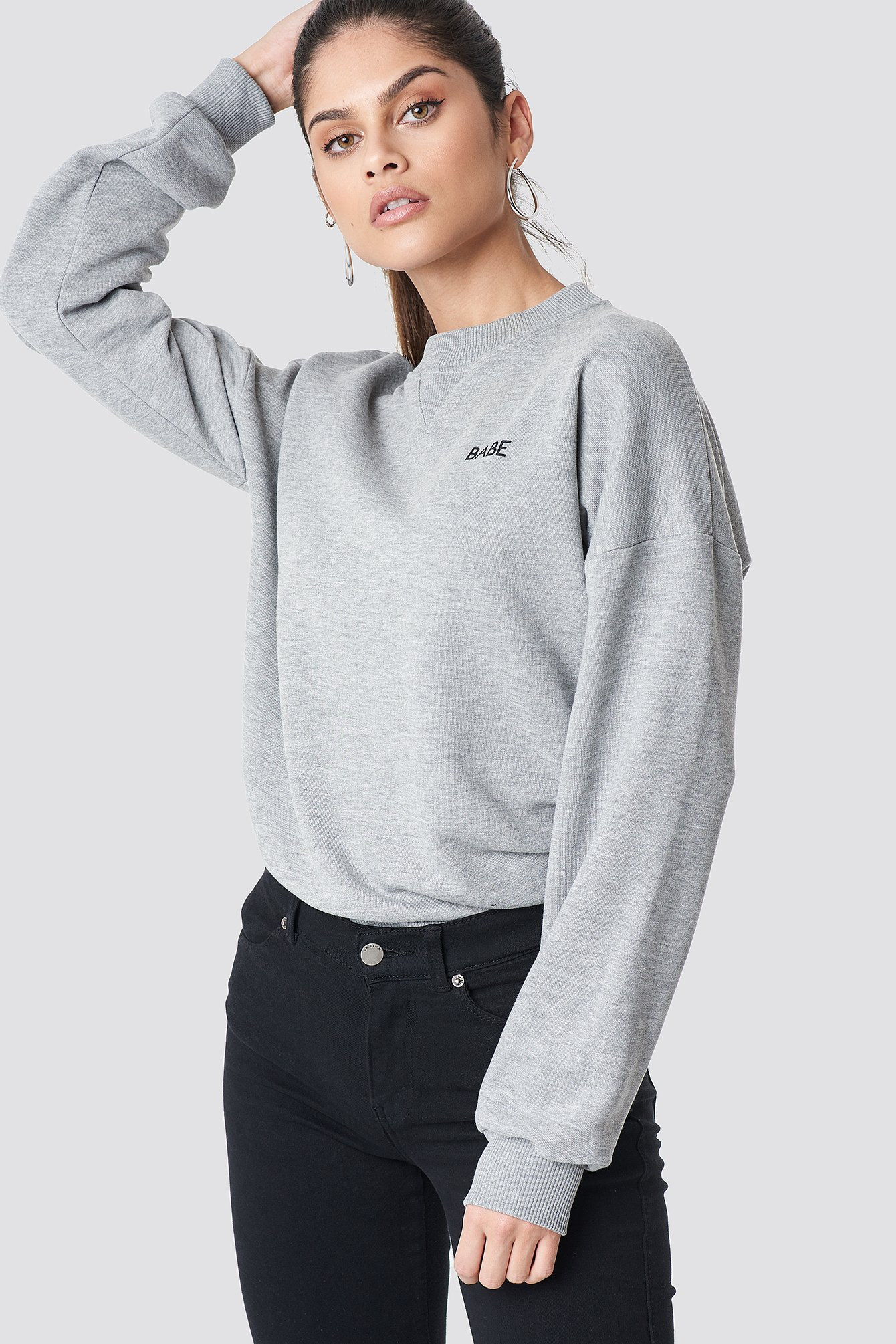 na-kd -  Babe Sweatshirt - Grey
