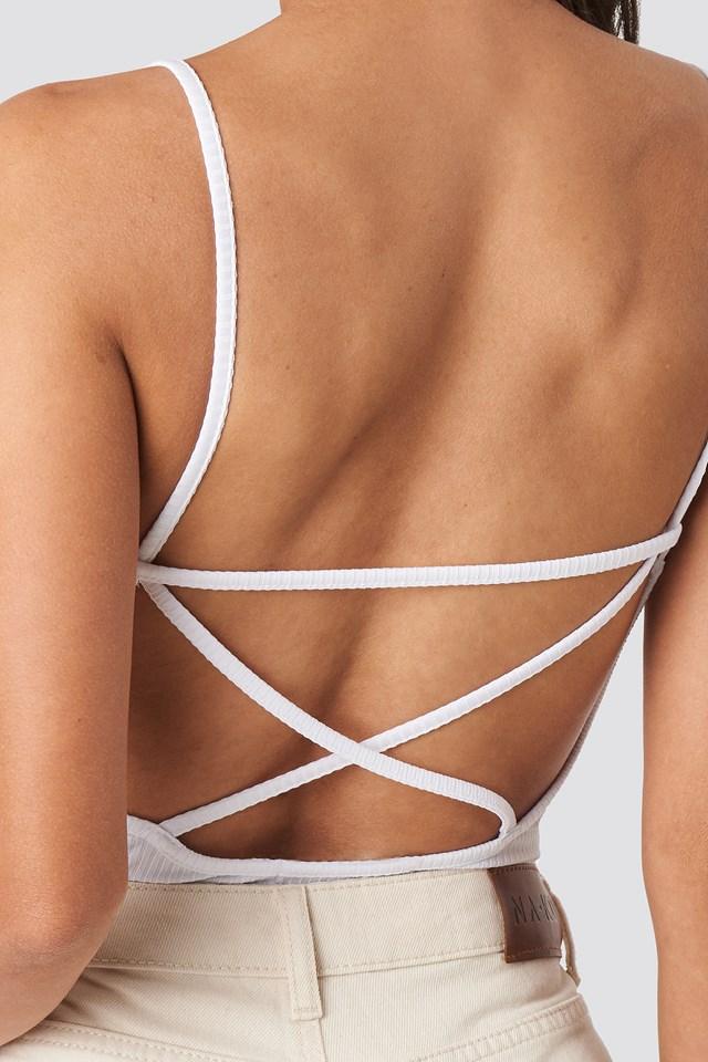 Back Cross Ribbed Body White