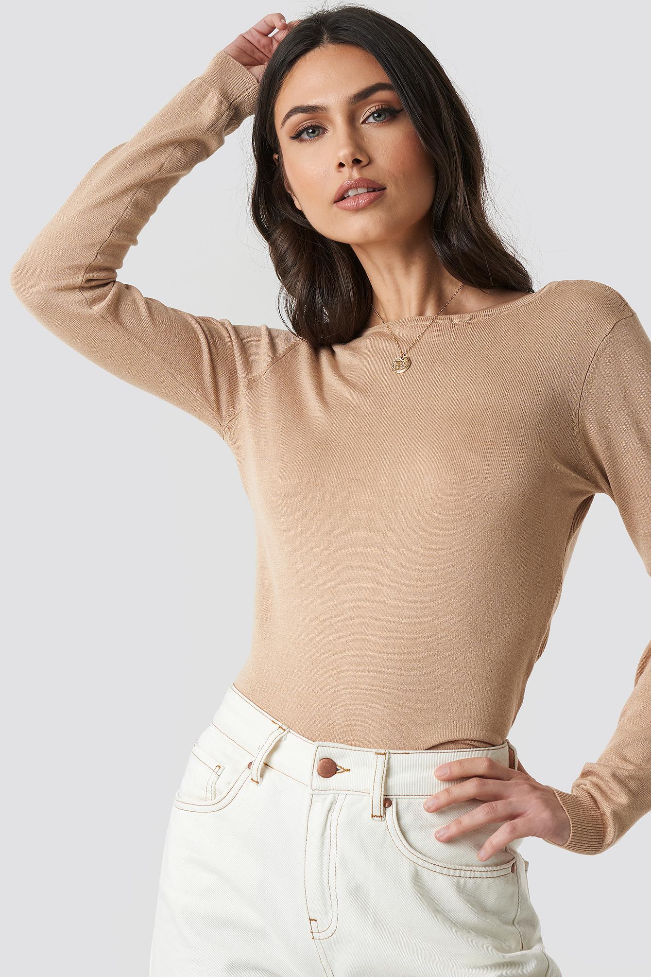 Back Cross Knitted Sweater NA-KD.COM
