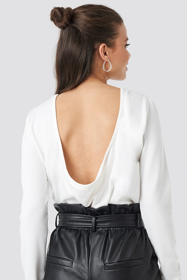 Back Draped Top Offwhite