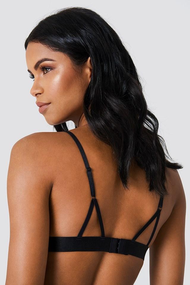 Back Straps Delicate Bra Black