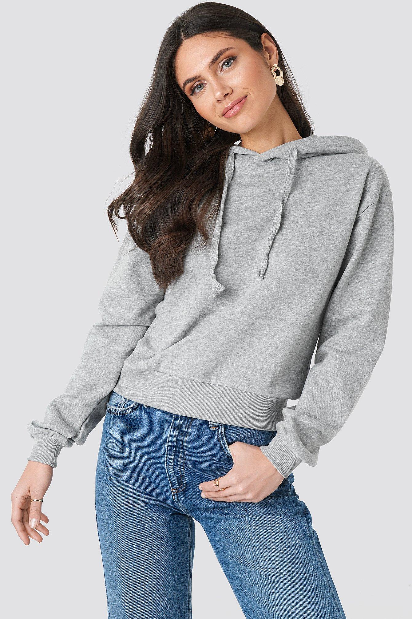 na-kd basic -  Normale Hoodie - Grey
