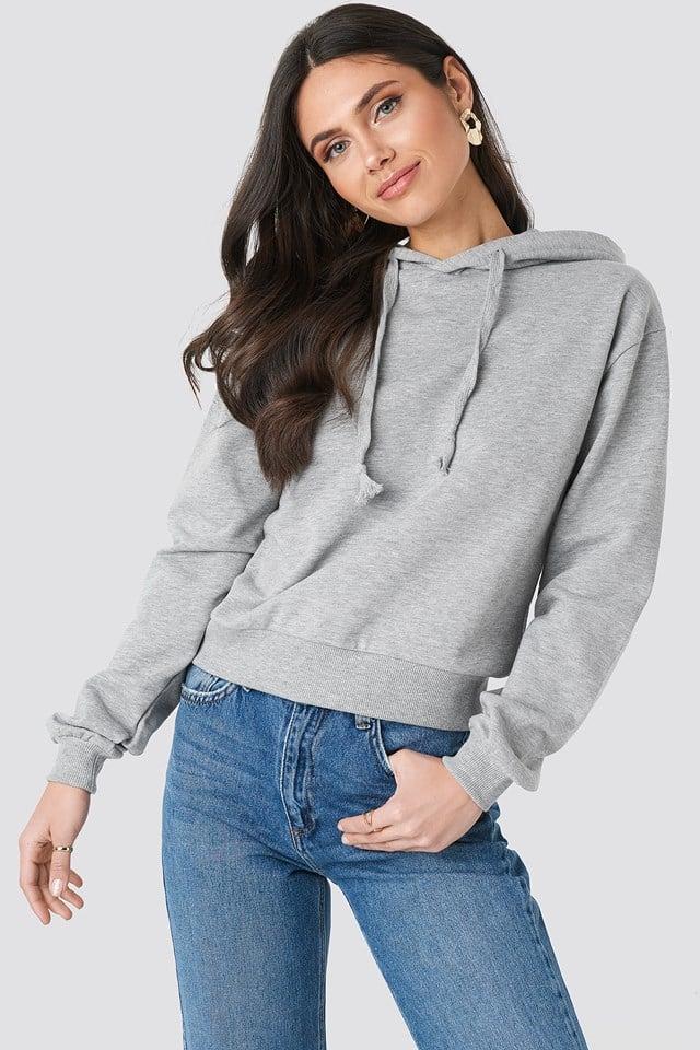 Bluza z kapturem basic Grey Mel