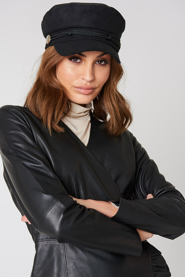 Baker Boy Hat Black