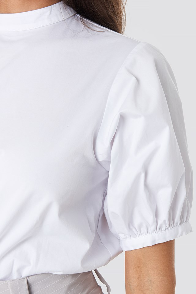 Balloon Short Sleeve Shirt White