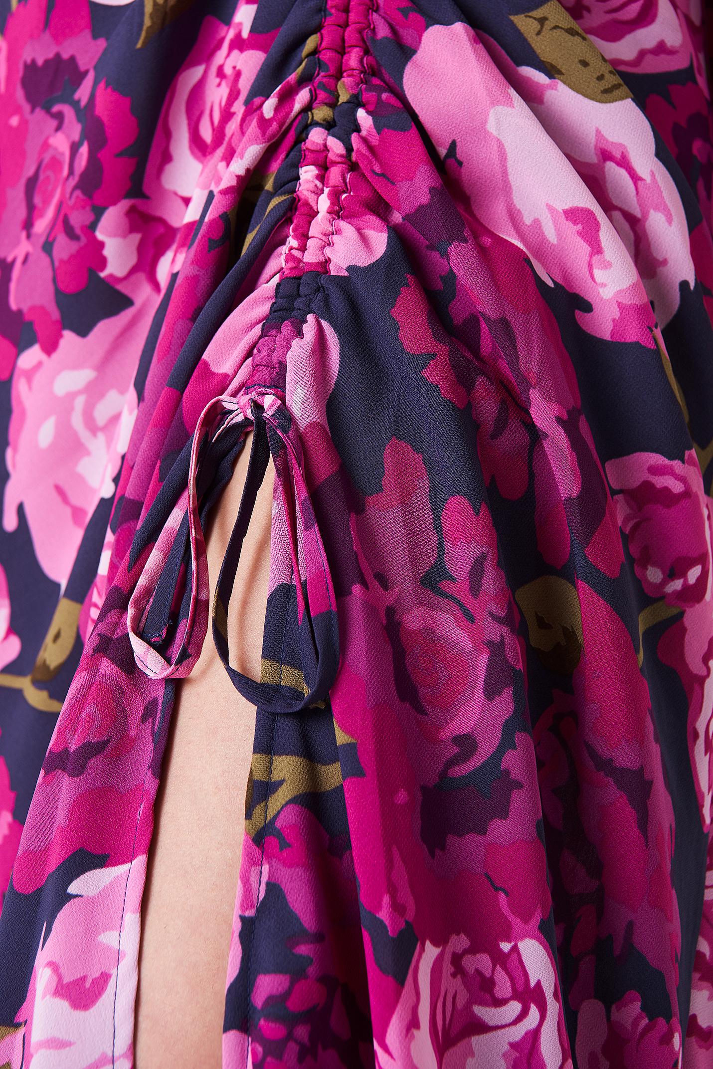Balloon Sleeve Drawstring Maxi Dress NA-KD.COM