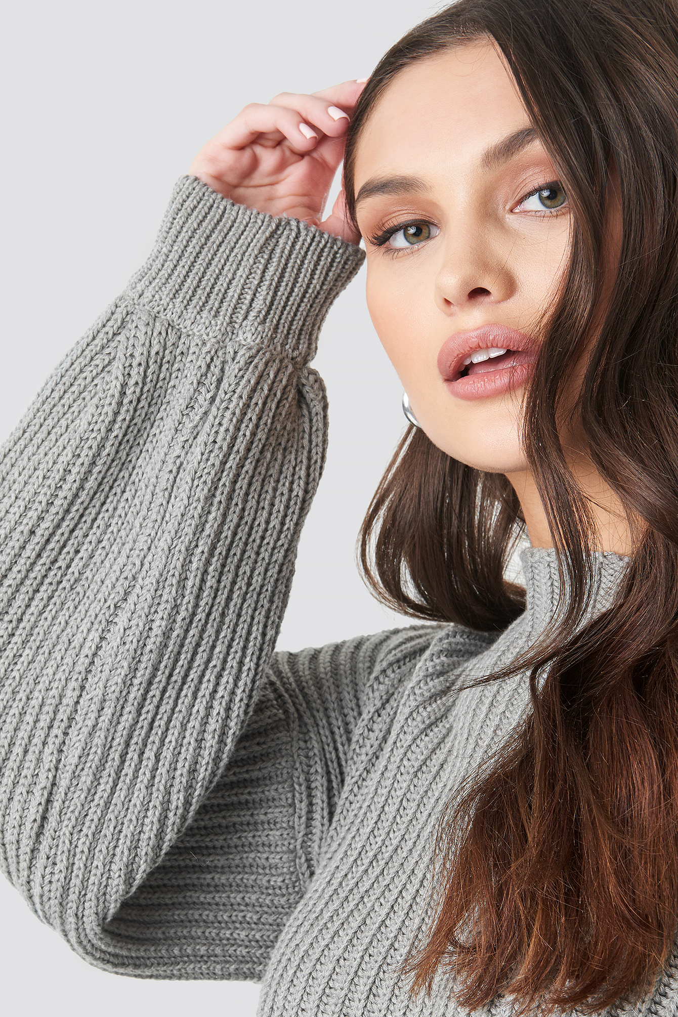 Balloon Sleeve Knitted Sweater NA-KD.COM