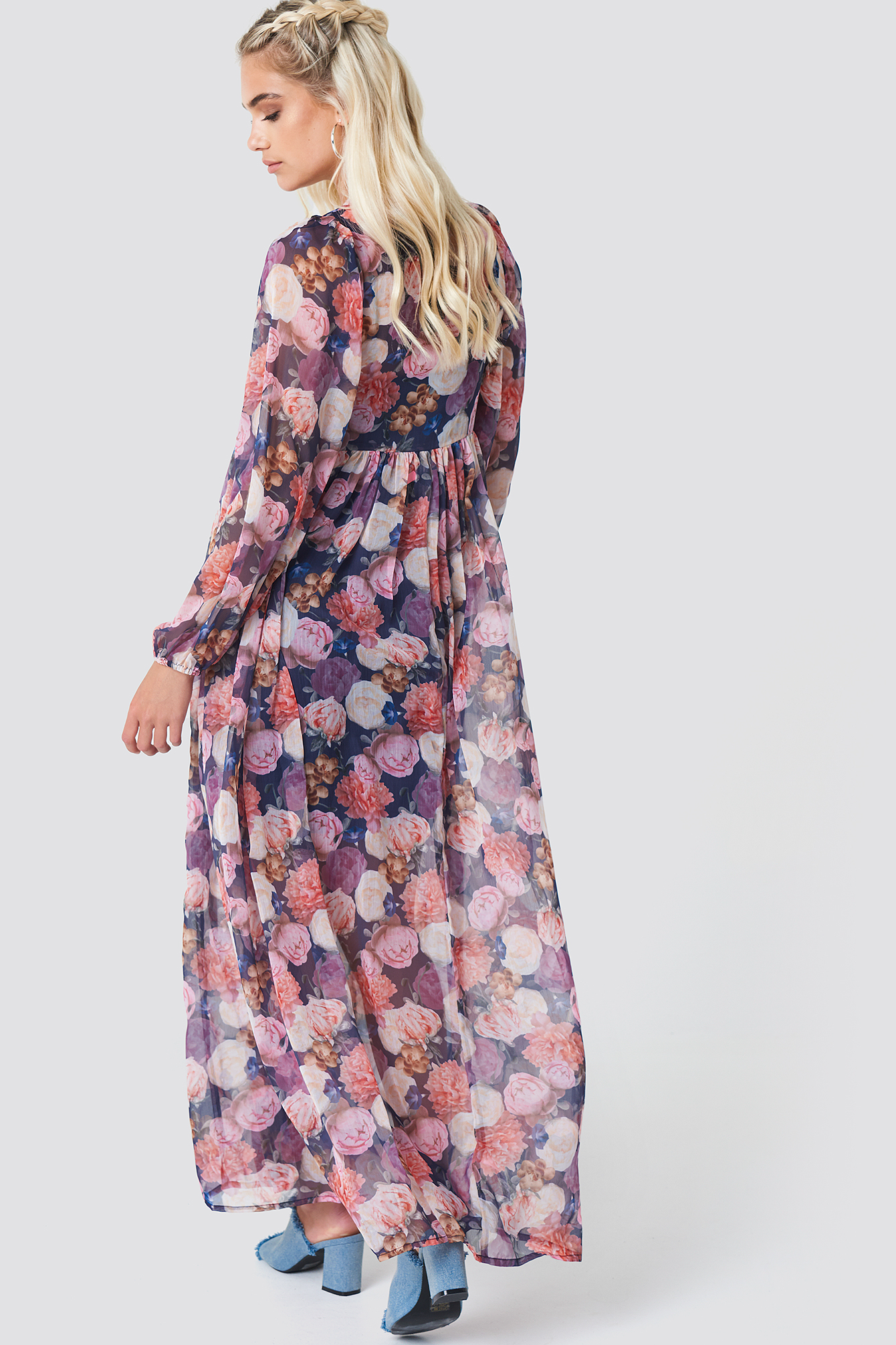 Balloon Sleeve Maxi Dress NA-KD.COM