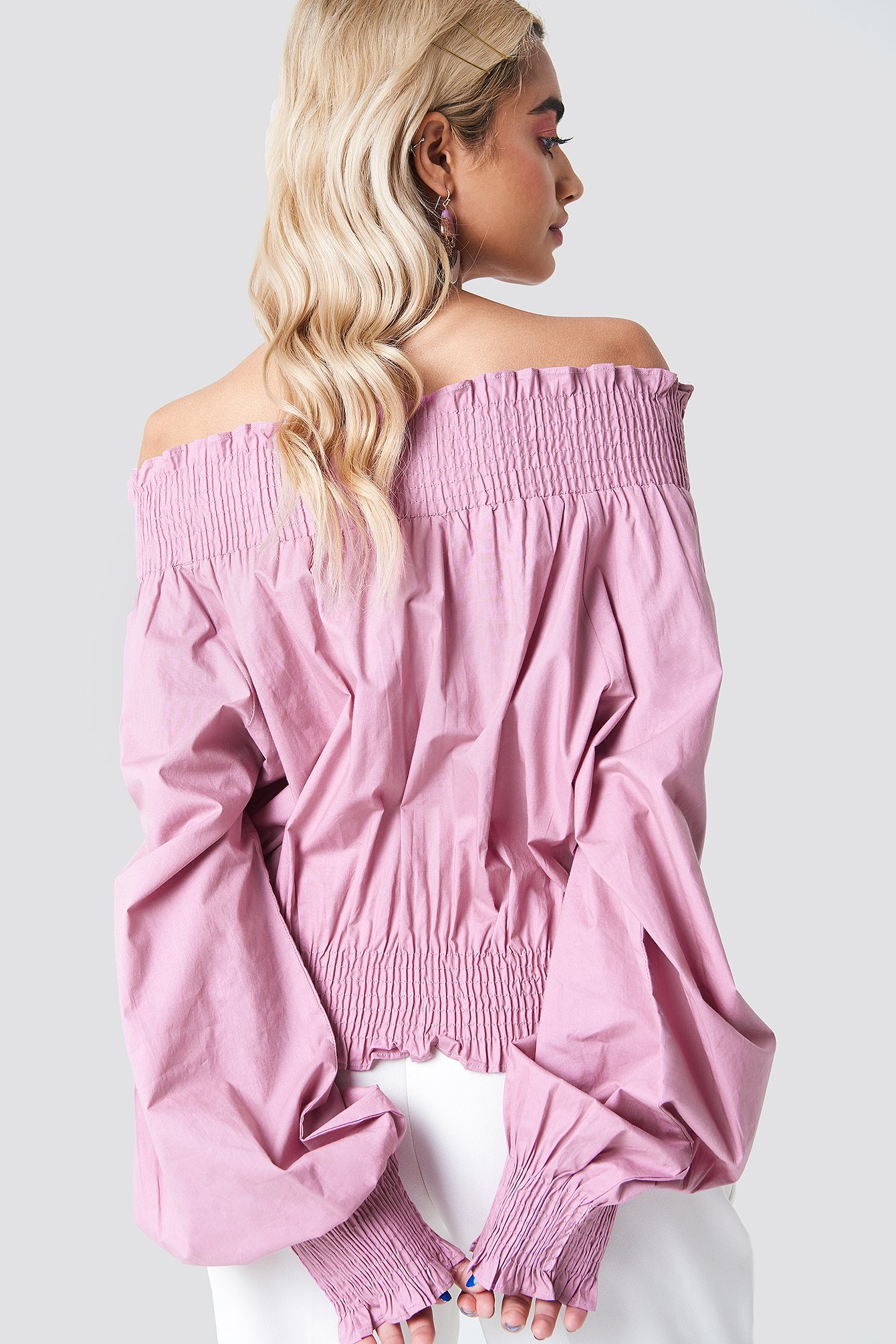 Balloon Sleeve Off Shoulder Blouse NA-KD.COM