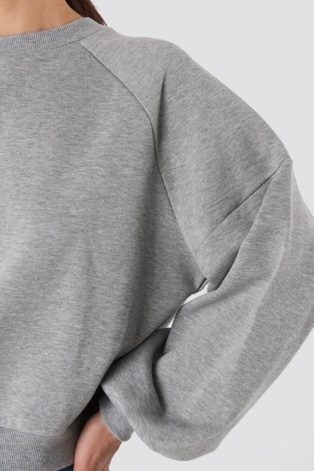 Balloon Sleeve Sweatshirt Grey Marl