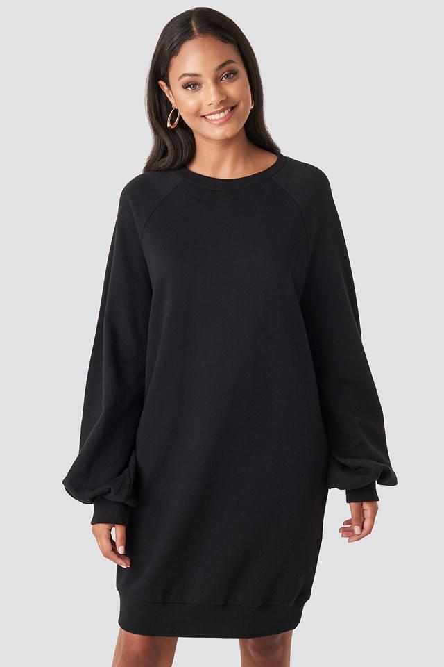 Balloon Sleeve Sweatshirt Mini Dress NA-KD