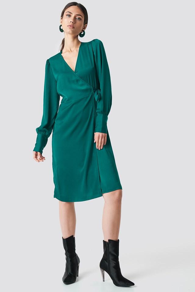 Kopertowa sukienka Emerald Green