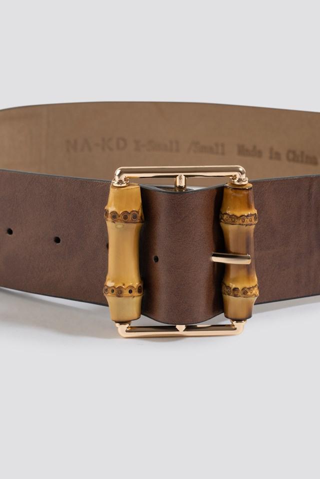 Bamboo Buckle Belt Brown