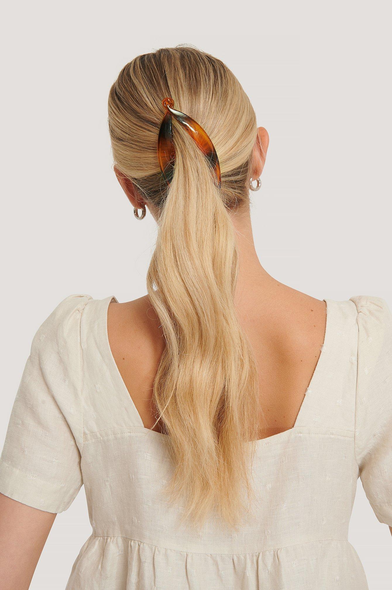 na-kd accessories -  Haarspange - Brown