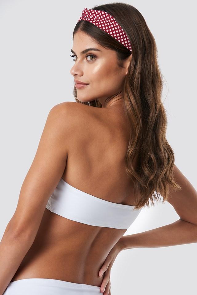 Bandeau Bikini Top White