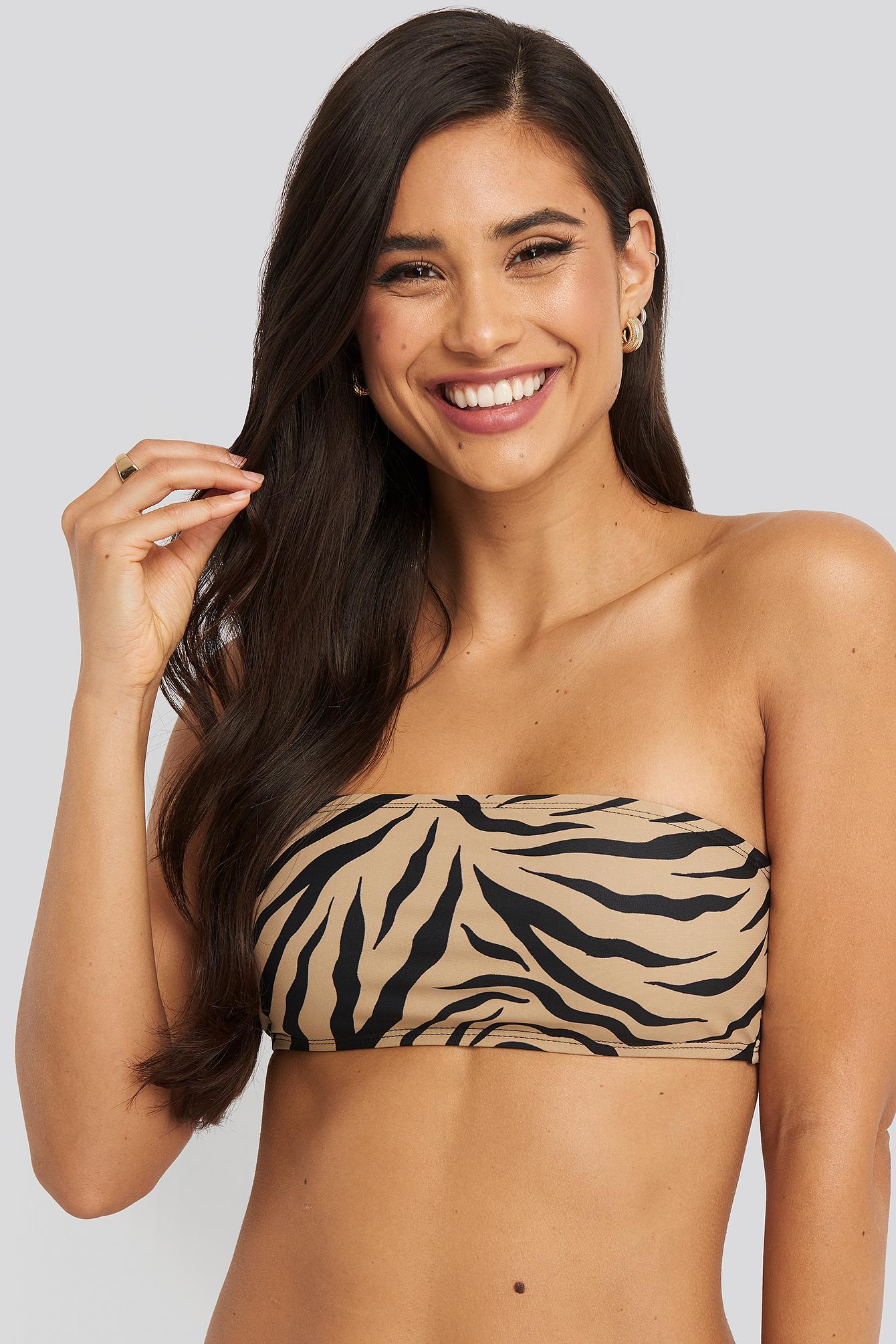 NA-KD Swimwear Bandeau-Bikinitopp - Multicolor