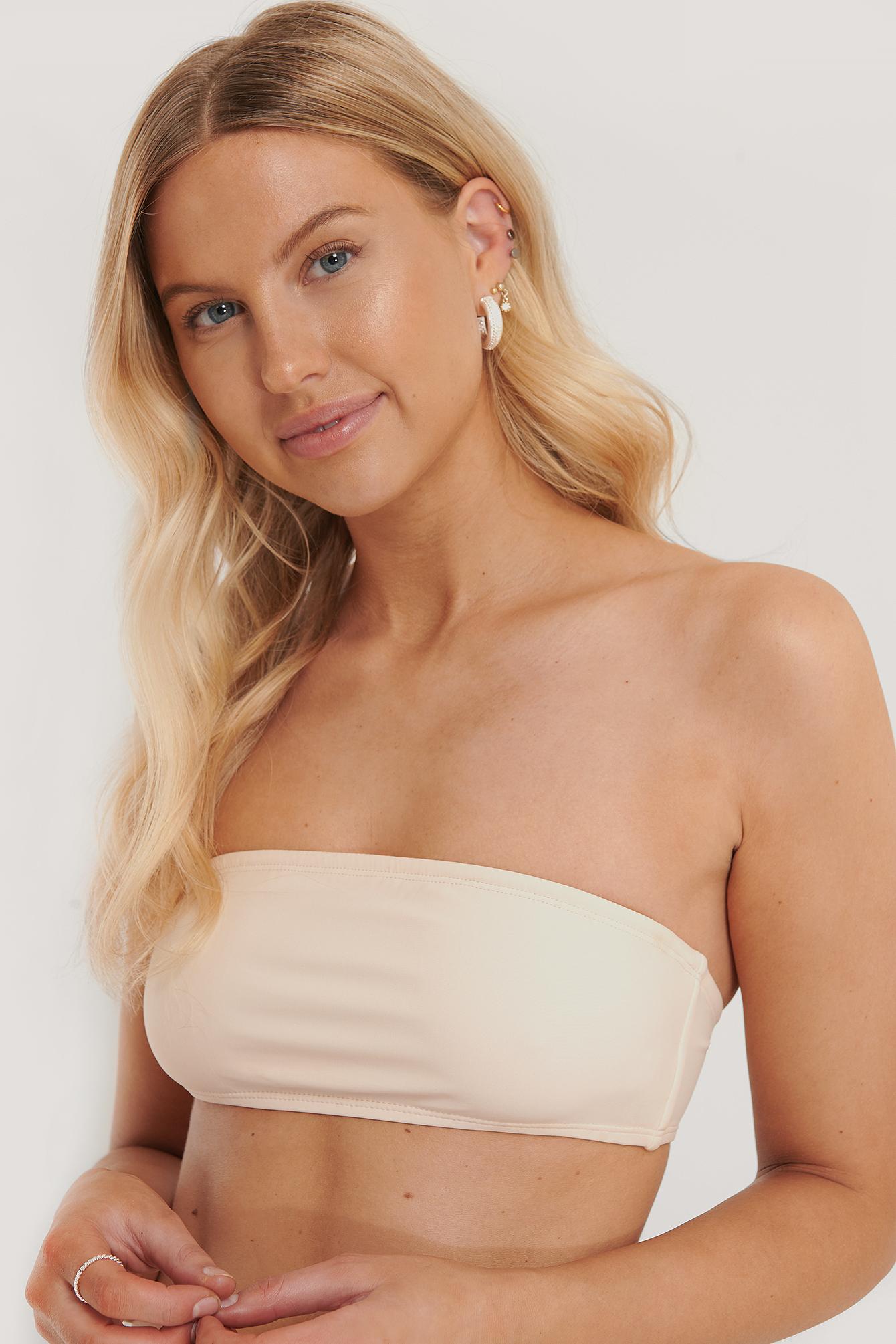 na-kd swimwear -  Bandeau-Bikini-Oberteil - Beige