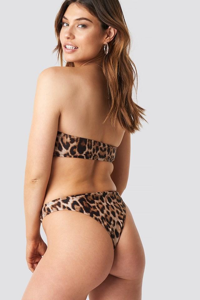 Bandeau Bikini Top Leo