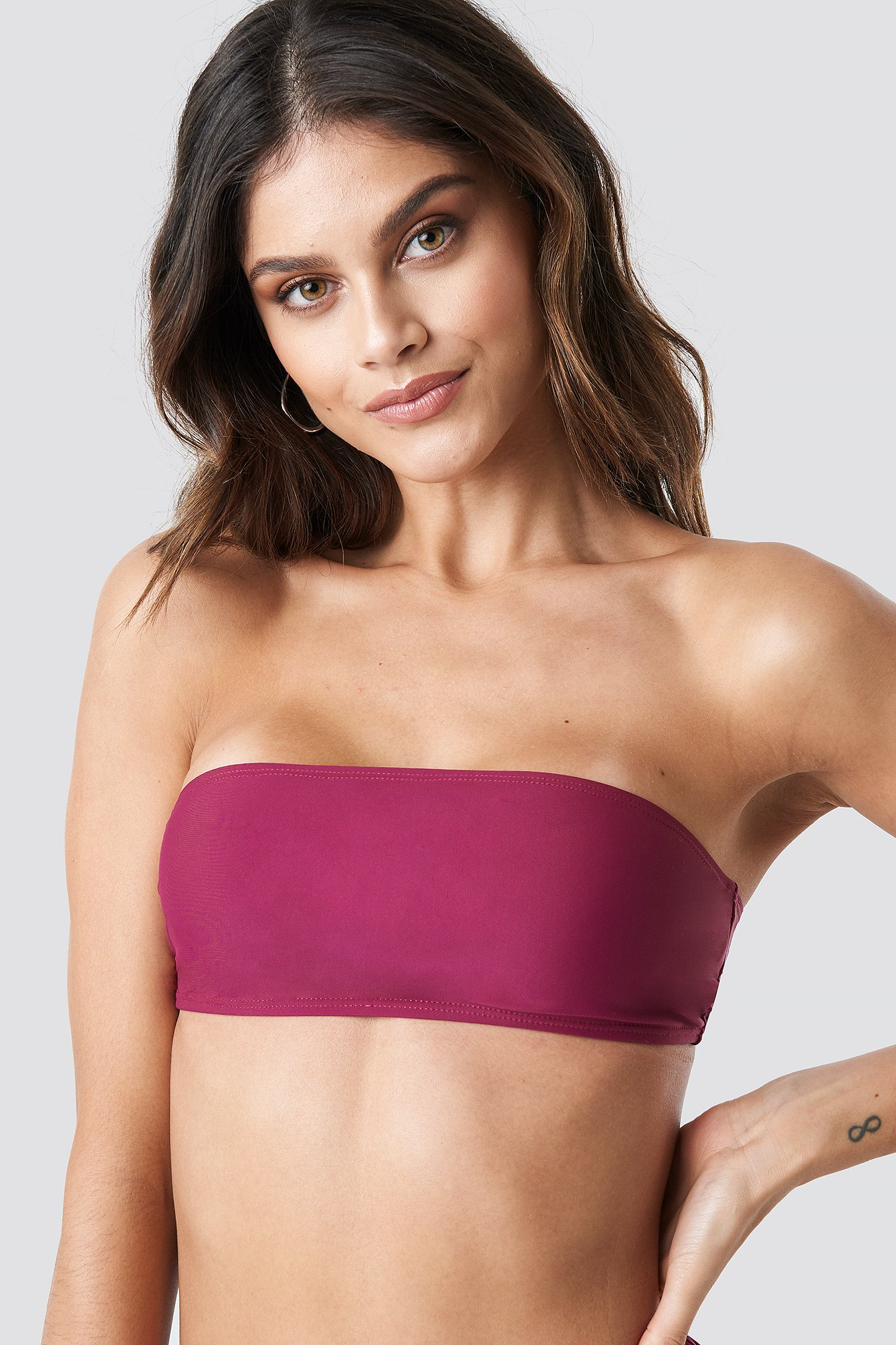 na-kd swimwear -  Bandeau Bikini Top - Purple