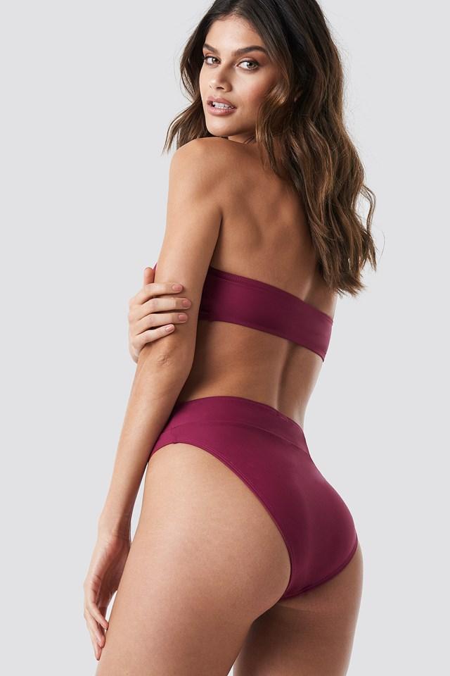 Bandeau Bikini Top Burgundy