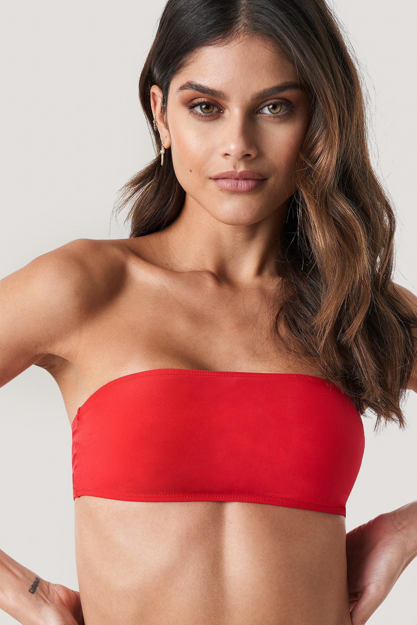 na-kd swimwear -  Bandeau-Bikini-Oberteil - Red