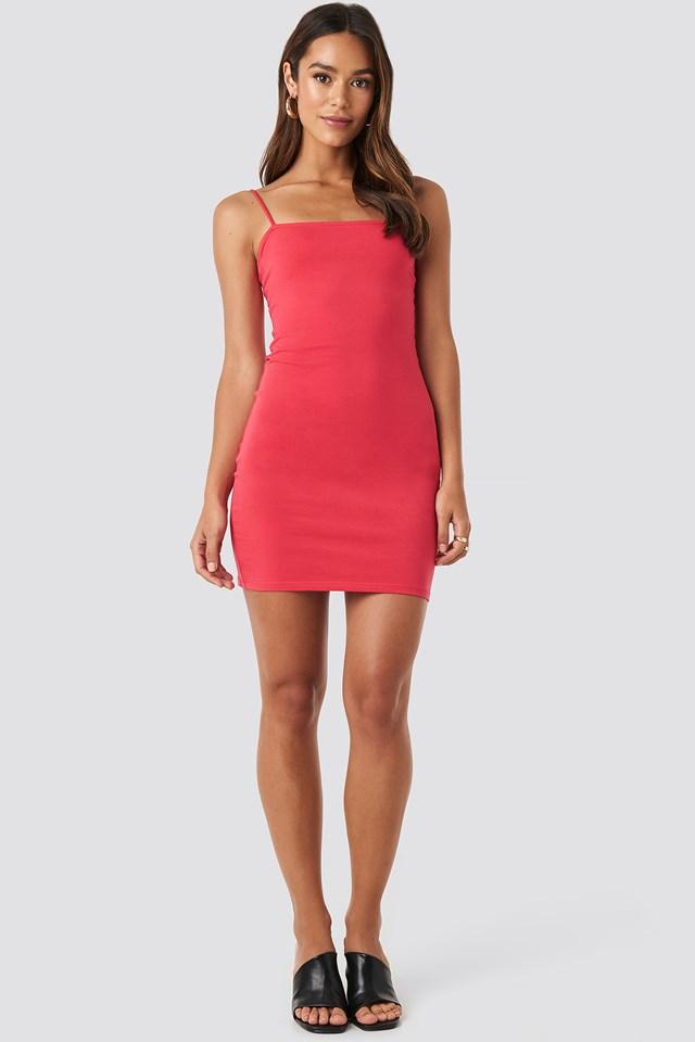 Bandeau Cami Mini Dress Red