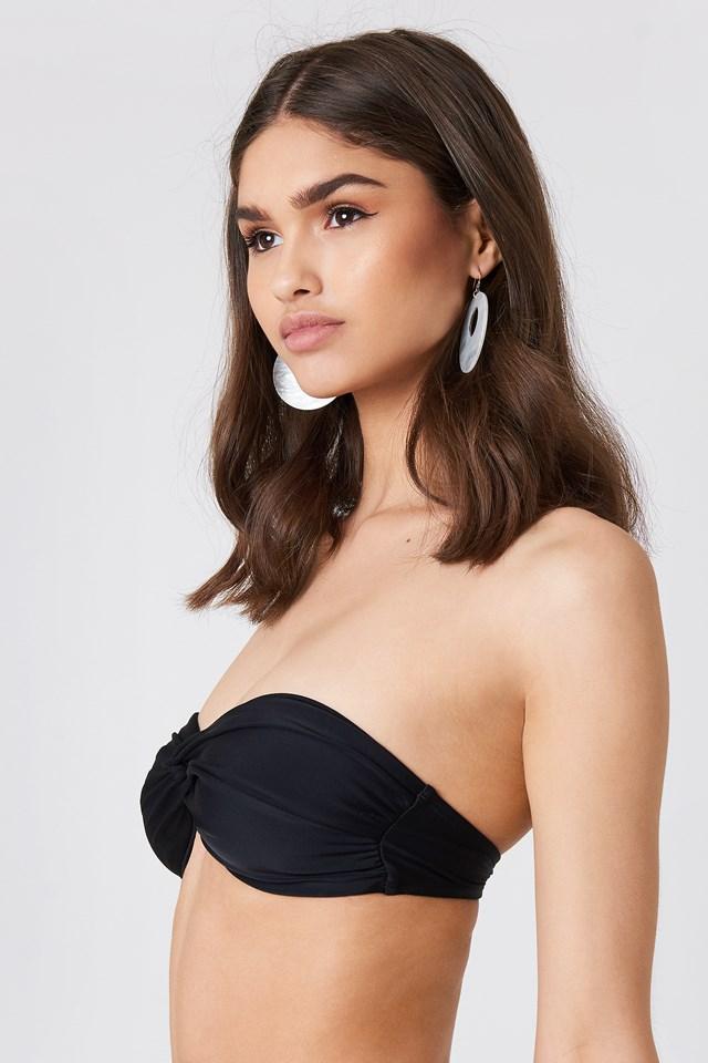 Bandeau Knot Bikini Top Black