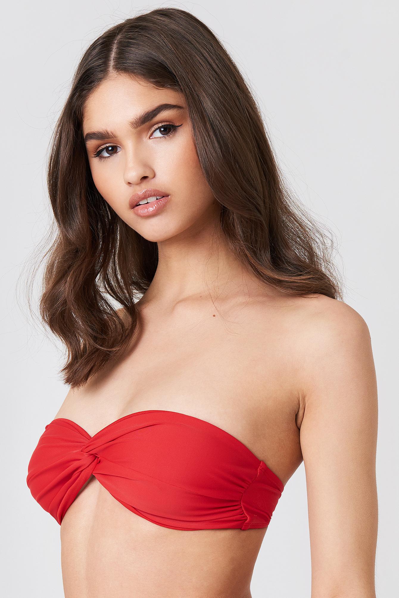 Bandeau Knot Bikini Top NA-KD.COM