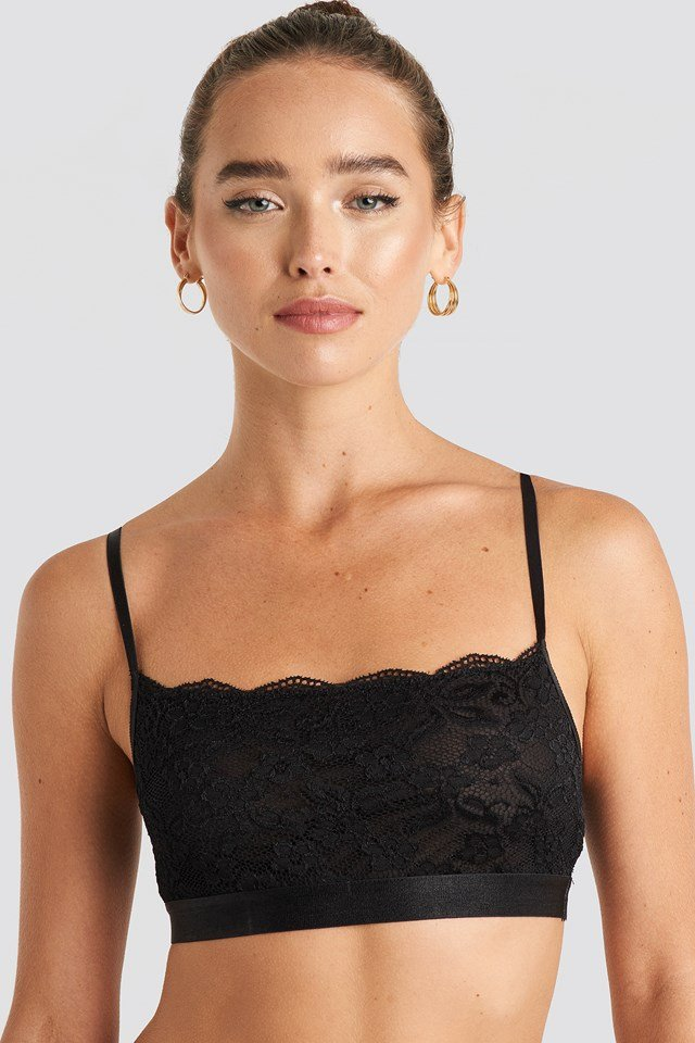 Bandeau Lace Bra Black