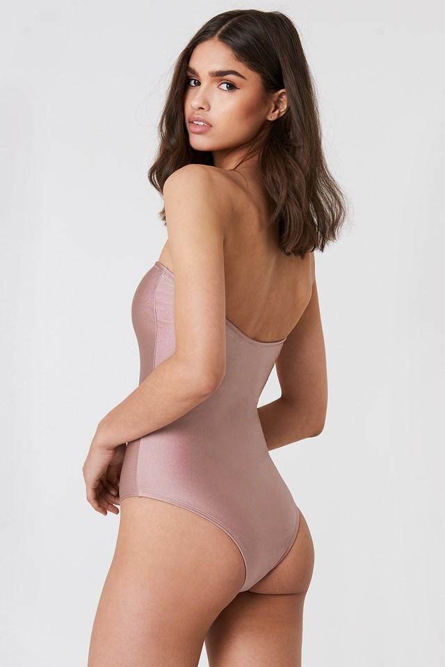 Bandeau Swimsuit Dusty Pink