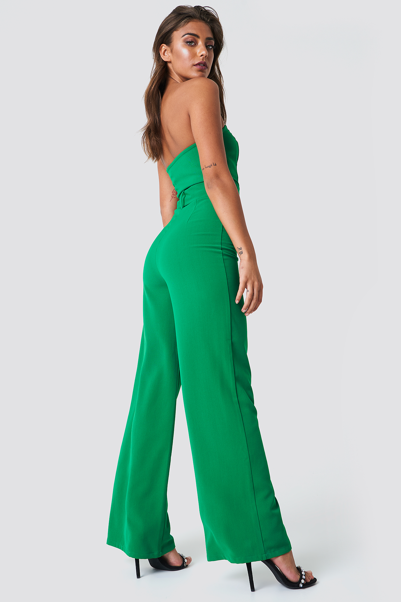 Bandeau Top Belted Jumpsuit NA-KD.COM