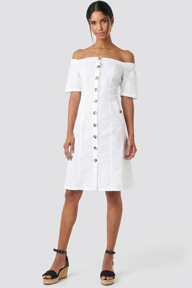 Bardot Button Up Midi Dress NA-KD.COM