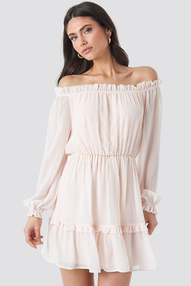 Bardot Mini Dress Pink