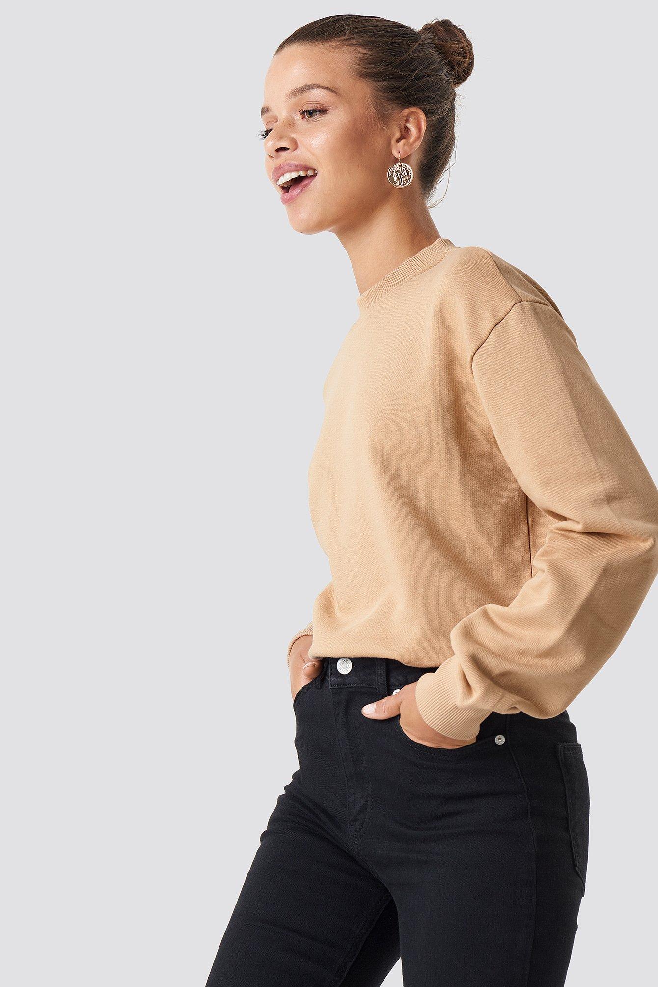 na-kd basic -  Normaler Pullover - Beige