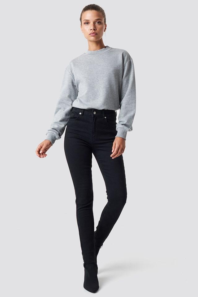 Basic Sweater Grey Mel