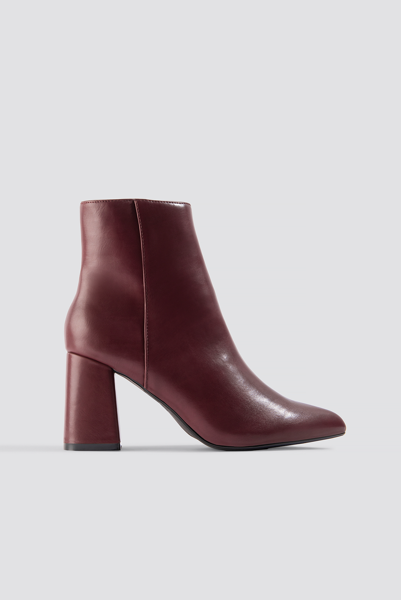 na-kd shoes -  Basic Block Heel Booties - Red