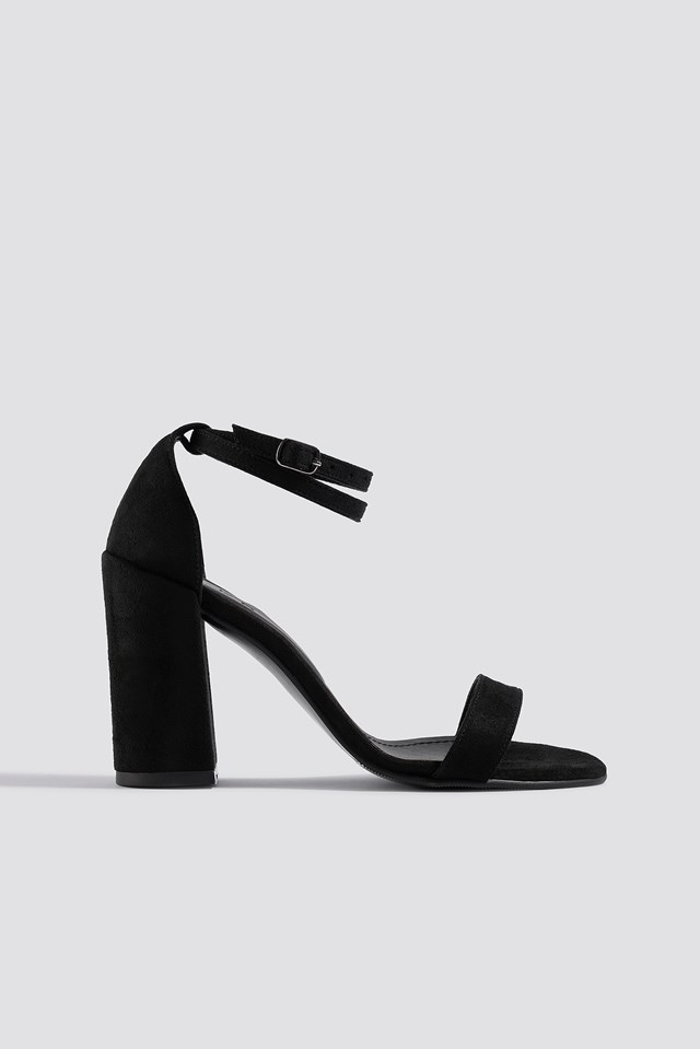 Basic Block Heels Black