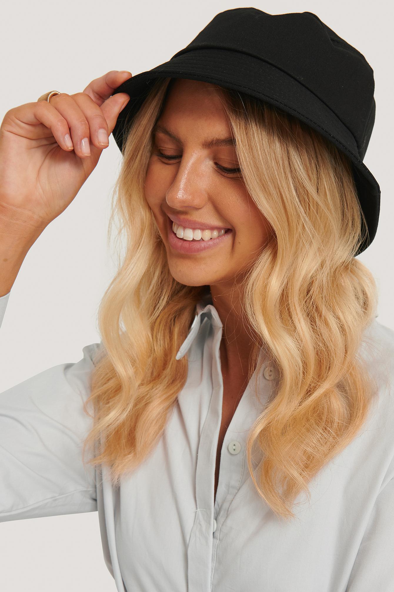 NA-KD Accessories Basic Bucket Hat - Black