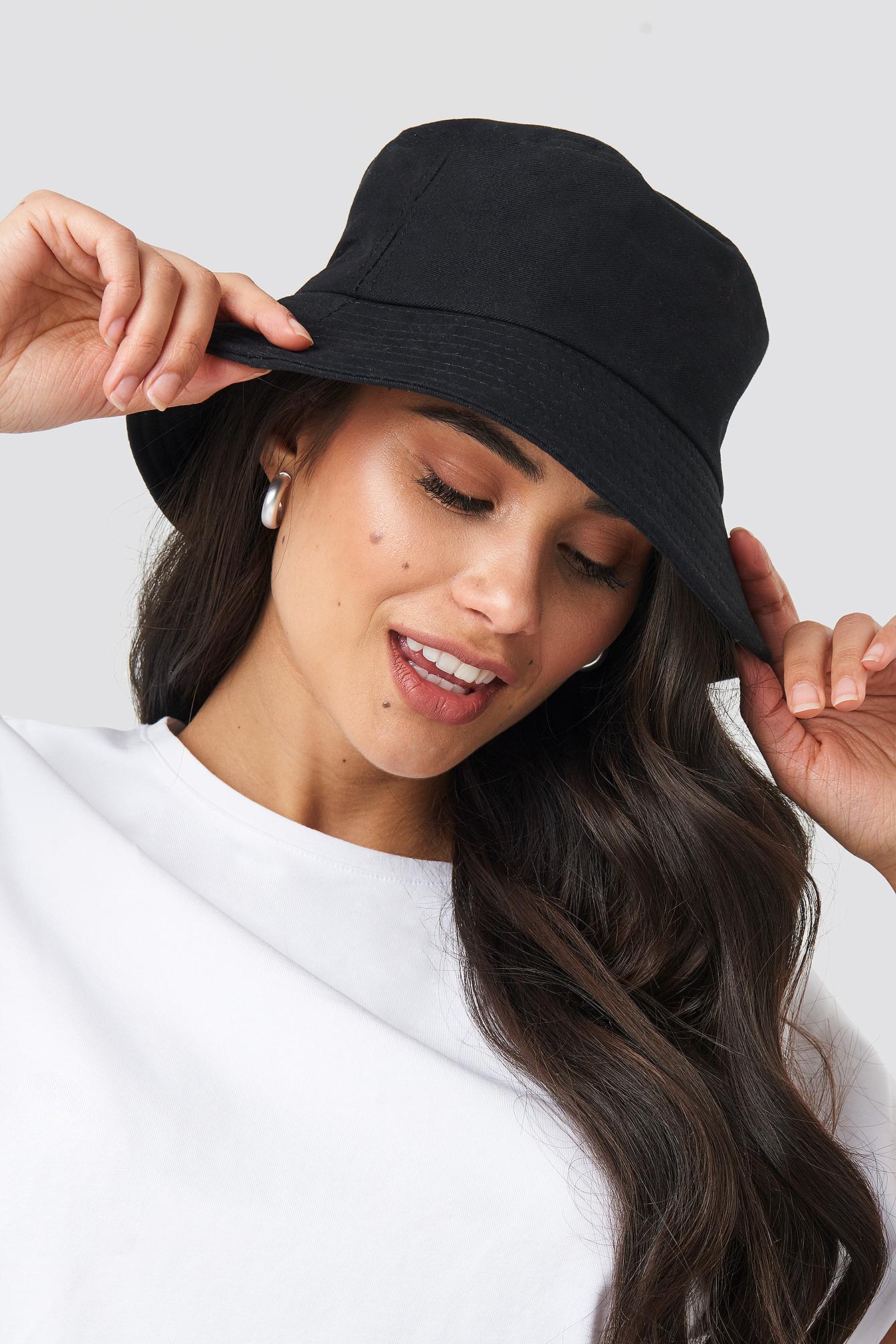 Na-kd Organza Bucket Hat Black