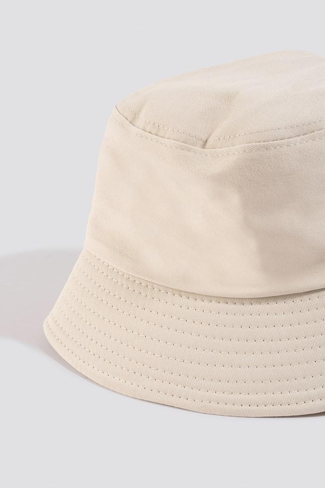 Basic Bucket Hat Beige