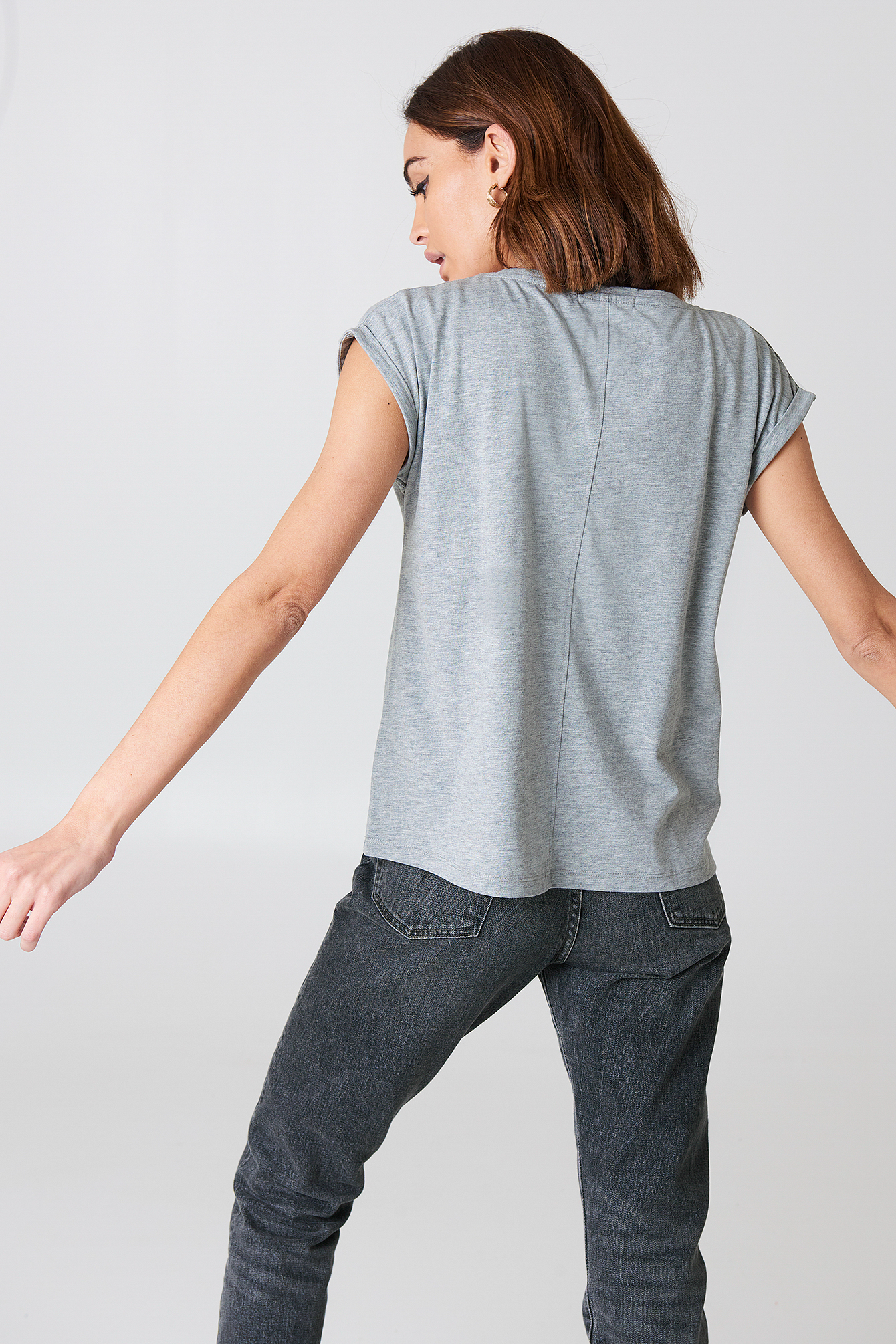 Basic Cap Sleeve Top NA-KD.COM