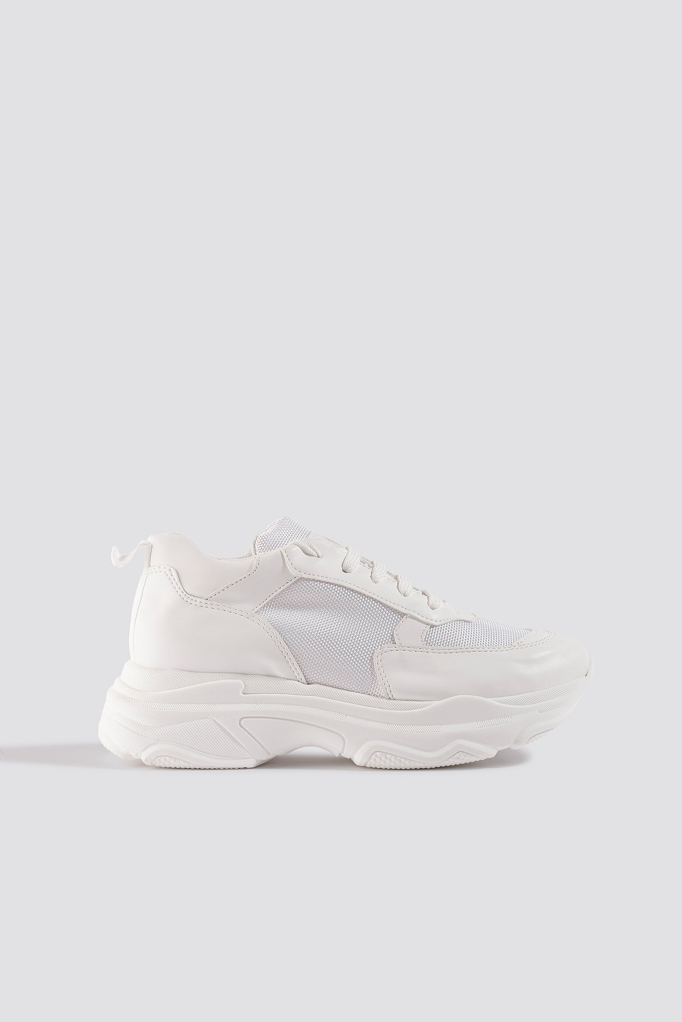 na-kd shoes -  Basic Chunky Trainers - White