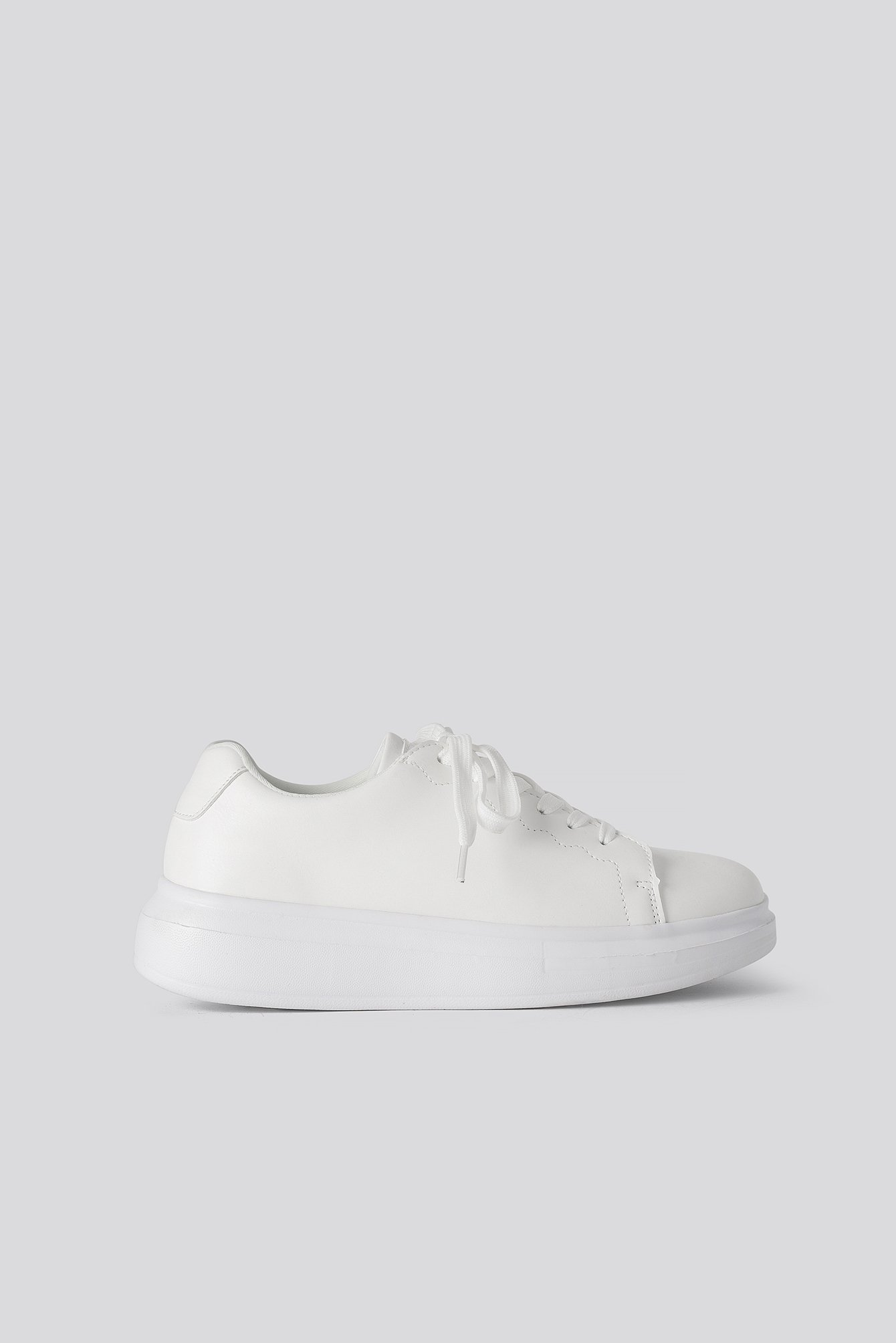 na-kd shoes -  Basic Court Trainers - White