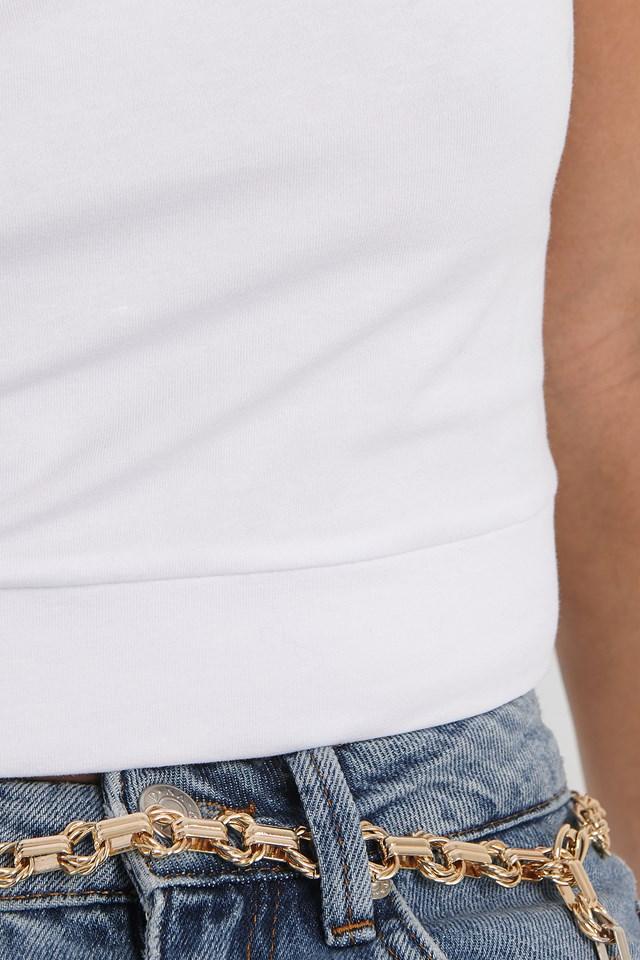 Basic Cropped Singlet White