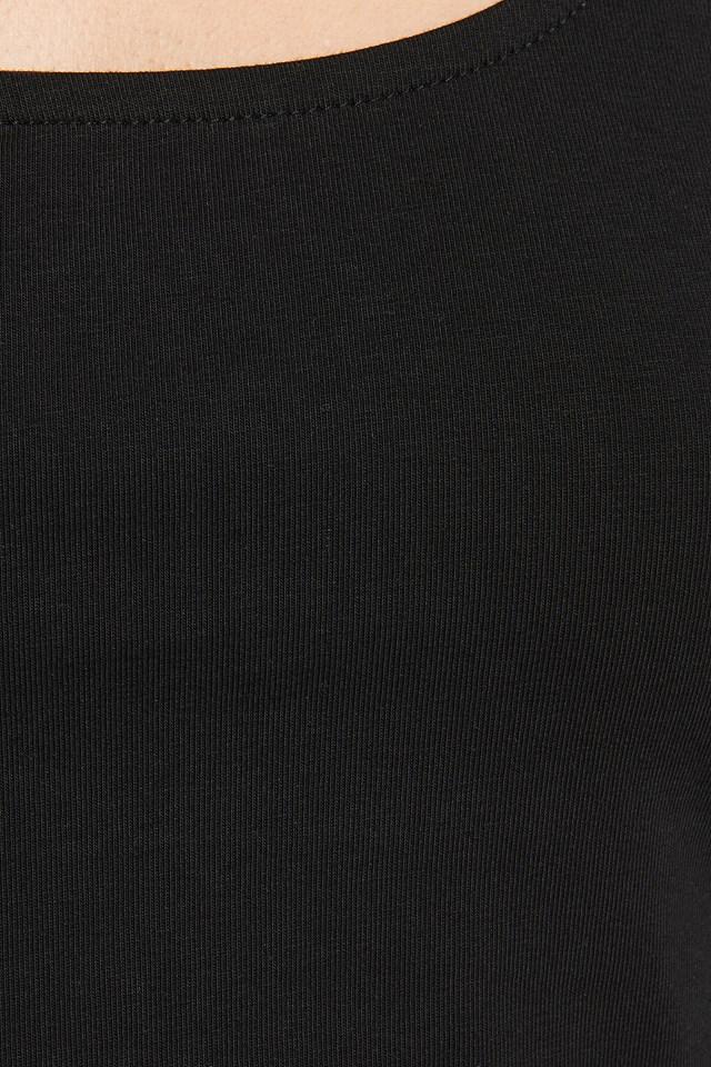Basic Cropped Singlet Black