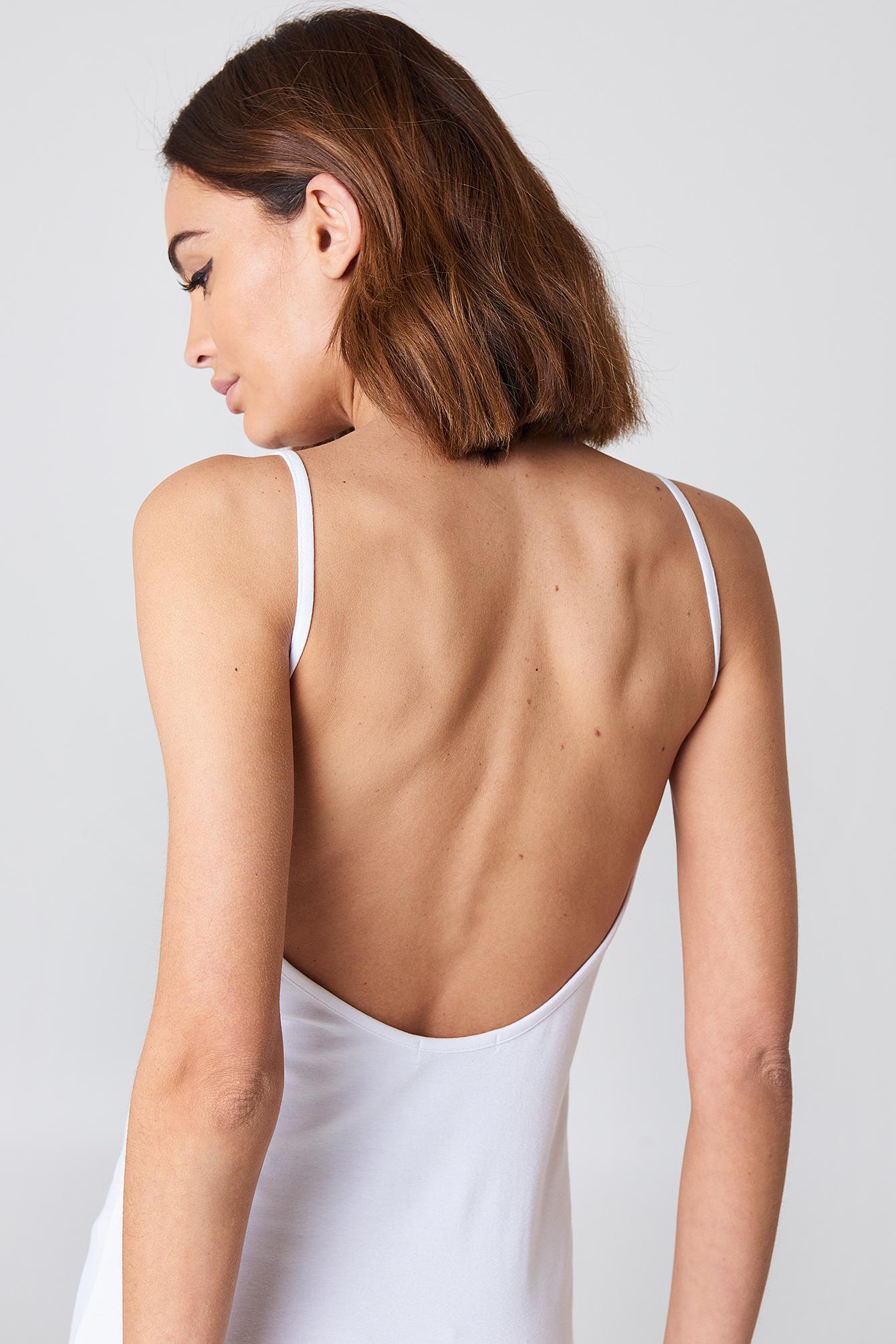 NA-KD Basic Deep Back Dress NA-KD.COM