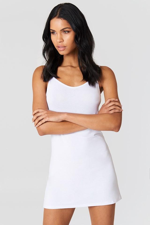 NA-KD Basic Dress White